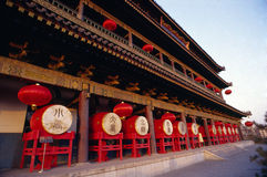 Xian drum tower Royalty Free Stock Image