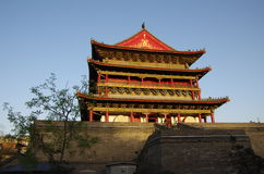 China xian drum tower Royalty Free Stock Photo