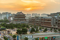 Xian drum tower Royalty Free Stock Photos