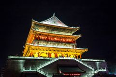 Xian drum tower Stock Photography