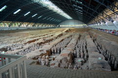 XIAN MAY 11: exhibition of the famous Chinese Terracotta Army Terracotta Warriors on MAY 11, 2016 in Xian, of Shaanxi Provinc Stock Photo