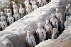 XIAN MAY 11: exhibition of the famous Chinese Terracotta Army Terracotta Warriors on MAY 11, 2016 in Xian, of Shaanxi Provinc Royalty Free Stock Photos