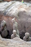 XIAN MAY 11: exhibition of the famous Chinese Terracotta Army Terracotta Warriors on MAY 11, 2016 in Xian, of Shaanxi Provinc Stock Image