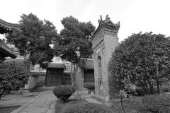 Xian huajue lane great mosque, black and white image Royalty Free Stock Photos