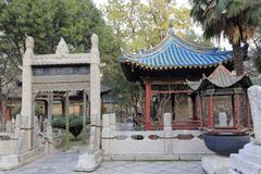 Huajue lane great mosque, adobe rgb. Xian mosque was founded in 1392 ad Stock Photography