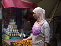 Xian Muslim Market Vendor royalty free stock photos
