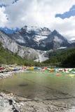 Xian Nairi-Schnee Berg Stockfoto