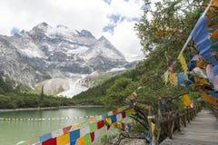 Xian Nairi-Schnee Berg Stockbild