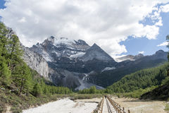 Xian Nairi-Schnee Berg Stockfotos