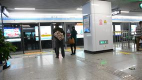 Xian North Railway Station High-speed Train Platform stock video footage
