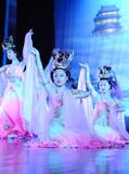 XIAN - NOVEMBER:Dancers of the Xian Dance Troupe. XIAN - APRIL 16: Dancers of the Xian Dance Troupe perform the famous Tang Dynasty show at the Xian Theatre stock image