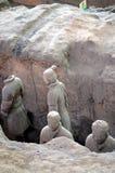 XIAN O 11 DE MAIO: exposição dos guerreiros chineses famosos da terracota do exército da terracota o 11 de maio de 2016 em Xian,  Imagem de Stock