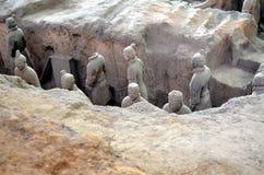 XIAN O 11 DE MAIO: exposição dos guerreiros chineses famosos da terracota do exército da terracota o 11 de maio de 2016 em Xian,  Fotos de Stock
