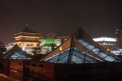 Xian på natten Royaltyfria Foton
