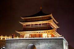 Xian på natten Arkivfoto