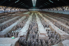 Xian terracotta warriors and horses Stock Photos
