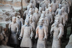 Xian-Terrakotta-Krieger stockfotografie