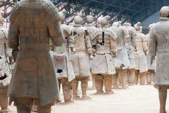 Xian terrakottaarmé bakifrån Arkivbild