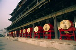 Xian-Trommel-Kontrollturm Stockfotos