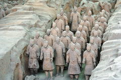 Terracotta warriors in Xian Royalty Free Stock Photography