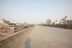 Xian widok od miasto ściany Zdjęcia Royalty Free