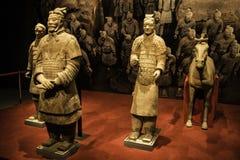 Xian wojownicy przy muzeum Islamskie sztuki MIA W Doha capi Obraz Royalty Free
