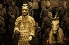 Xian wojownicy przy muzeum Islamskie sztuki MIA W Doha capi Obraz Stock