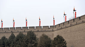 Xian(xi'an) city wall Stock Photography