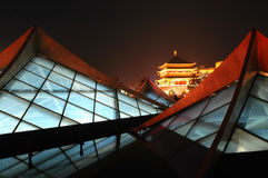 Xian(Xi'an) night scenes Royalty Free Stock Image