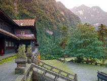 Xianfeng Temple on the way to Mount Emei Stock Images