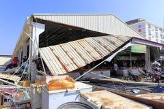 xiang'an区食物市场崩溃天花板  免版税图库摄影