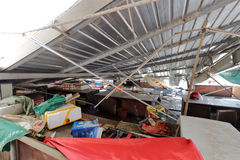 xiang'an区食物市场崩溃天花板  库存照片