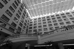 Xianglu grand hotel atrium black and white image Stock Images