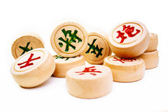 Xiangqi, Chinese chess. Xiangqi the chinese chess  on white, selective focus Stock Images