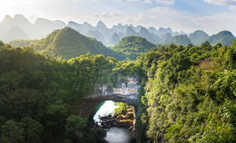 Xiangqiao cave panoramic view, Guangxi, China Stock Photo