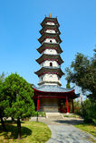 The Xianju south peak tower. The photo was taken in Splendid China scenic spot Shenzhen city Guangdong province, China Stock Photo