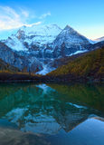 The Xiannairi Holy Mountain and Zhuoma La Lake, Yading, daocheng Royalty Free Stock Photography