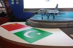 Xiaolong FC-1 JF-17 kämpemodell Fotografering för Bildbyråer