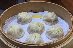 Xiaolongbao, chinesisches Lebensmittel Lizenzfreies Stockbild