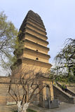 Xiaoyanta塔在冬天,多孔黏土rgb 库存图片