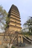 Xiaoyanta-Turm im Winter, luftgetrockneter Ziegelstein rgb Stockbilder