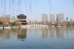 Xiaoyaojin公园合肥中国 免版税图库摄影