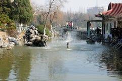 Xiaoyaojin parkerar Hefei Kina Royaltyfria Bilder