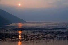 Xiapu sunrise. Asia China Fujian Xiapu sunrise royalty free stock photos