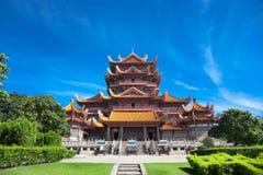 xichan fuzhou tempel Royaltyfri Bild