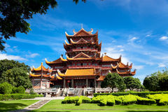 xichan fuzhou tempel Arkivbilder