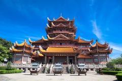 xichan fuzhou tempel Royaltyfri Foto