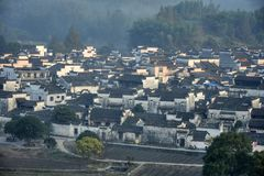 Xidi en liten forntida by i det Anhui landskapet i Kina nära de gula bergen Royaltyfri Foto