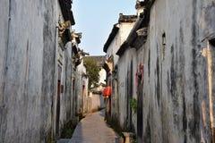 Xidi en liten forntida by i det Anhui landskapet i Kina nära de gula bergen Arkivfoton