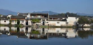 Xidi en liten forntida by i det Anhui landskapet i Kina nära de gula bergen Royaltyfria Bilder